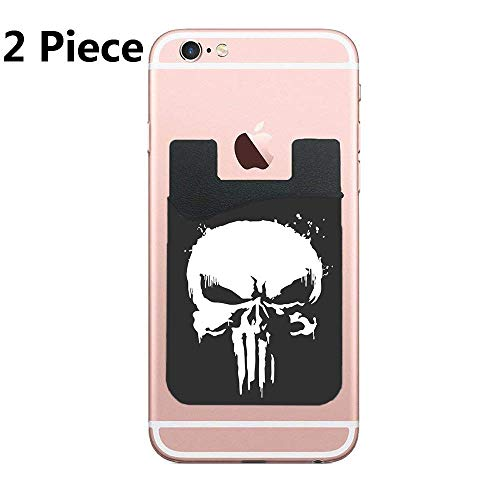 The Punisher Skull Netflix Cell Phone Card Holder, Stick On Wallet for Back of Phone, for iPhone, All Smartphones - 2Pack