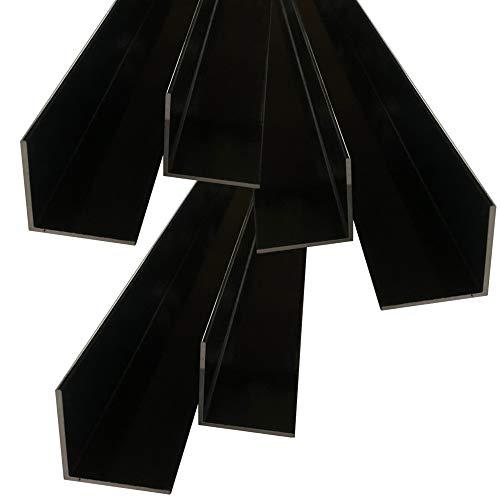 Aluwinkel 40 x 40 x 2 mm Winkelprofil RAL 7016 anthrazit pulverbeschichtet gleichschenklig Alu Winkel Aluprofil Aluminiumprofil L Profil aus Aluminium (200 cm)
