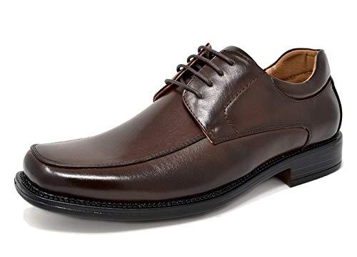 Bruno Marc Business Derby Schuhe Klassischer Halbschuh aus Leder Schnürhalbschuhe Anzugschuhe Dunkelbraun Größe 9 M US / 42 EU Goldman-01