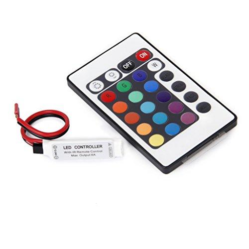MagiDeal 24 Teclas LED RGB Strip IR Control Remoto Control Remoto Control Del Controlador para 3528 5050 RGB SMD LED Strips