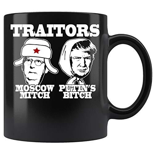 TRAITORS MOSCOW MITCH PUTIN'S BITCH Ditch Russia Trump Meme Coffee Mug 11oz Tea Cups Gift