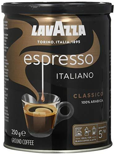 Lavazza Gemahlener Kaffee - Caffè Espresso - 100 % Arabica - 1er Pack ( 1 x 250 g)