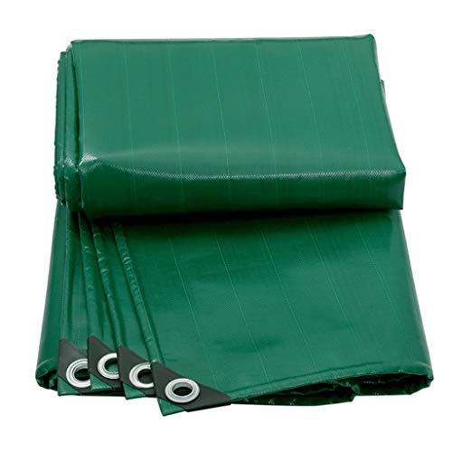 Yyqx Cubierta de Lona Cuchillo Verde Gruesa raspado de Tela camión Oil Tela Impermeable Lona de Aislamiento térmico a Prueba de Lluvia de Tela Personalizada Parasol Canopy Lona Lona alquitranada