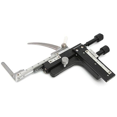 VIDOO Calibrador De Etapa Móvil X-Y De Etapa Mecánica Conectable con Microscopio con Escala - Tipo Recto