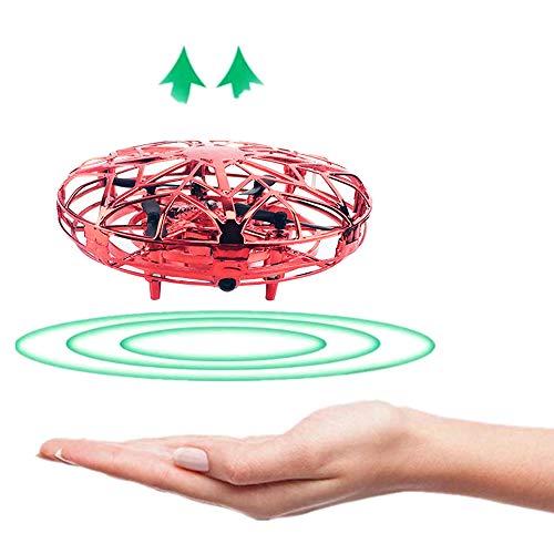 Galapara Mini Drones para niños y Adultos, UFO 360 ° Vehículo aéreo Giratorio con Luces LED, Accionado a Mano Juguete Bola Volador Interactivo de inducción infrarrojo, Regalos para niños y niñas