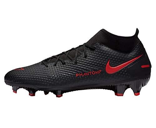 Nike Phantom GT Academy DF FG/MG - Zapatillas de deporte, color Black / Chile Red DK Smoke G, tamaño 44