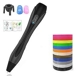 Lovebay 3d Stifte Set【Neueste Version 2020】Ein kompletter Satz von 12 Farben mit E-book,3D Stift Kompatibel mit PLA und ABS,3D stift Set für Kinder und Erwachsene kritzeleien, Malerei und kreatives