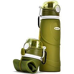 Kemier kollabierbare Silikon-Wasserflaschen-750ML, Medizinische Qualität