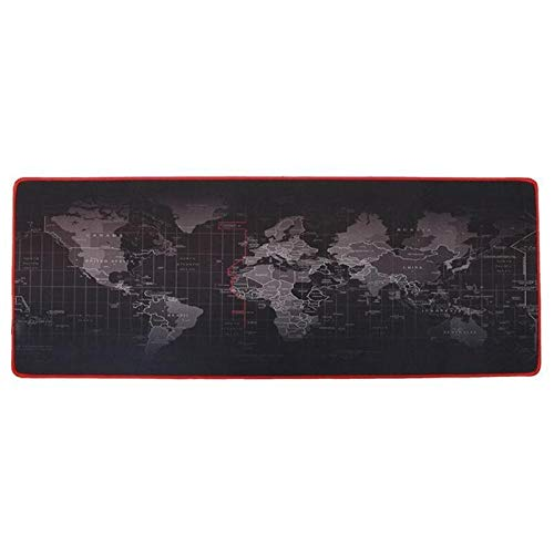 Z-Y Wegwerp overschoenen Plastic World Map Grote muismat mat Natuurrubberraad Desktop Gaming Mousepad Anti-slip Thicken Muizen Pad for Laptop PC #z (Color : A, Size : 30x80cm)