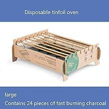 TYZY Desechable Barbacoa sin Humo de carbón portátil Mini Parrilla de Protección Ambiental de la Barbacoa de Horno para el hogar Comercial al Aire Libre