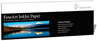 """Hahnemuhle Photo Rag Baryta High-Gloss FineArt Inkjet Paper, Panoramic, 315gsm, 0.39mm, 8.27"""" x 23.38"""", 25 Sheets"""