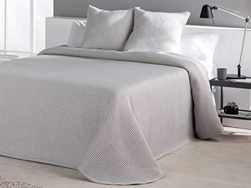 Barceló – Tagesdecke Jacquard Canale – Bett 90 cm – Weiß Cama 90 cm Perlgrau