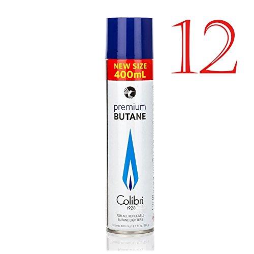 COLIBRI Bombola Gas Butano Puro Alta Qualità - 12x 400ml Bombola in Metallo (Totale 4800ml)