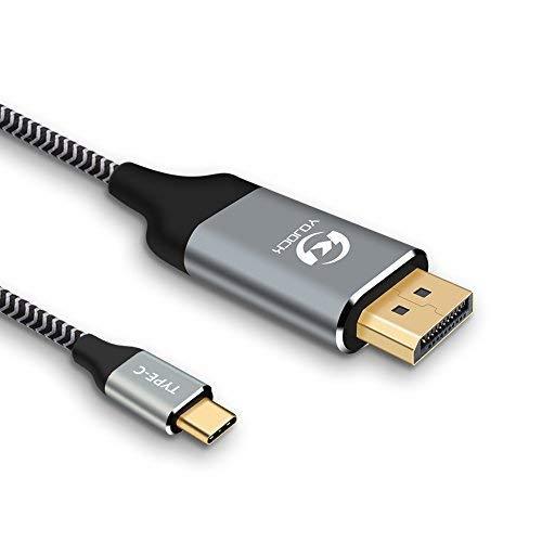 USB C Displayport 変換ケーブル USB-C to DP ケーブル 180cm Type C to ディスプレイポートDP 変換 Thunderbolt3 互換 最大解像度3840x2160 4K@60Hz対応 Macbook Pro/ iMac/ Chromebook Pixel/ Dell XPS 13/ Razer Blade Stealth/ GPD Pocket等に対応 usb type c displayport 変換ケーブル