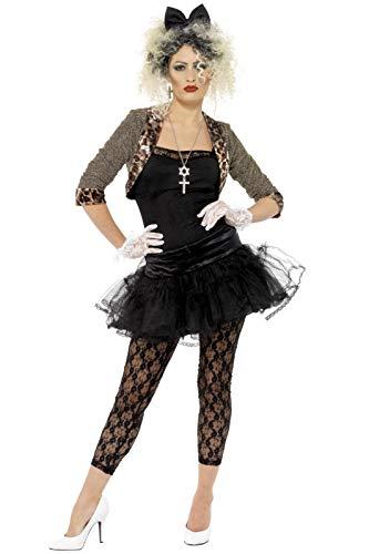 Smiffys-36233M Disfraz de Enfant Terrible de los 80, con Chaqueta, Parte de Arriba, tutú, Color Negro, M - EU Tamaño 40-42 (Smiffy'S 36233M)