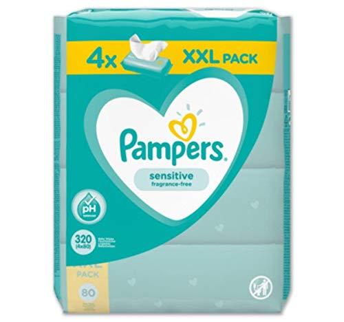 Pampers Feuchte Tücher Sensitive, 4 x 80 Tücher (320 Tücher)
