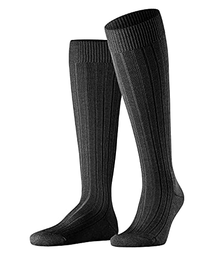 Falke Teppich Im Schuh, Calcetines Largos Hombre, Lana Merino, Negro (Black 3000), 41-42 (1 Par)