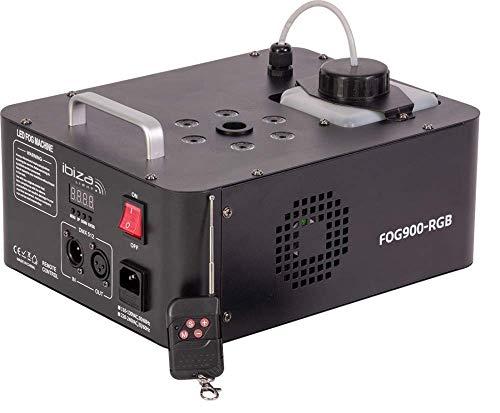 IBIZA FOG900-RGB VERTIKAL DMX LED NEBELMASCHINE 900W MIT FERNBEDIENUNG PARTY DISCO CLUB MUSIK EVENT DJ BÜHNE EFFEKT NEBEL