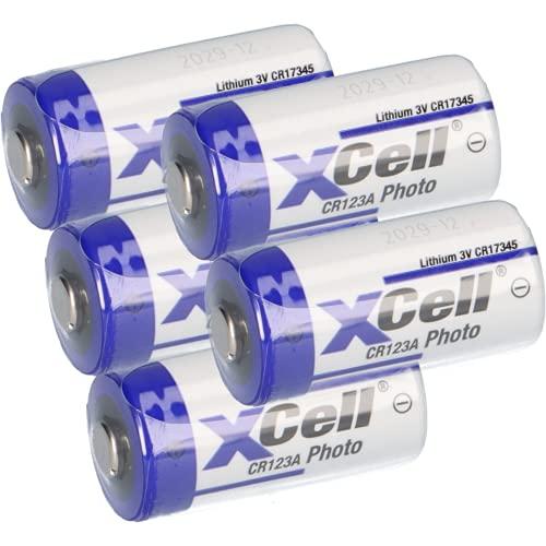 5X CR123 CR123A DL123A Batterien 3V 1550mAh CR17345 Ultra Lithium Foto 3 Volt für Digitalkameras, Alarmanlagen, Sicherheitstechnik, Rauchmelder, Taschenlampen AKKUman Set (5er)
