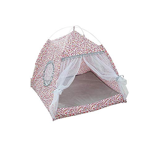WanXingY Cat Tent Cat House Pet Breathable Indoor Tent Pet House Small And Medium-sized Cat Folding Bed Kitten Bed Cat Tent (Color : 2, Size : M)