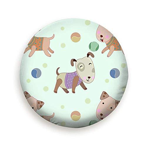 Fendy-Shop Repuesto Cubierta de neumático 14'-17' Perro Jugando Tenis Pelota Animales Vida Silvestre Animal Cubierta Ligera para Autos de Repuesto