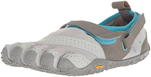 Vibram Five Fingers V-Aqua, Chaussures de Sports Aquatiques Femme, Gris (Grey/Blue Grey/Blue), 42 EU