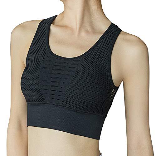 Lixada Vrouwen-holle mazen push-up sport-bHS, gymhallen-fitness-workout loop-bh Activewear-tip