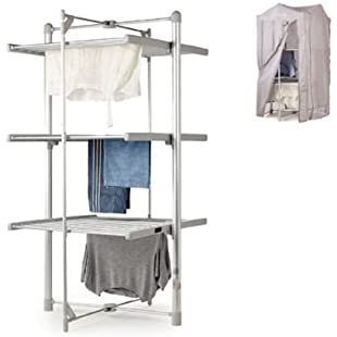 DrySoon 3-Tier Heated Airer & Fitting Cover Pack (Under 6p/Hour!):Kumagai-yutaka