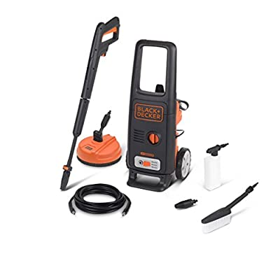 Black+Decker BXPW1600PE High Pressure Washer (1600 W, 125 bar, 420 l/h) with Patio Cleaner and Fixed Brush by Annovi Reverberi S.p.A.