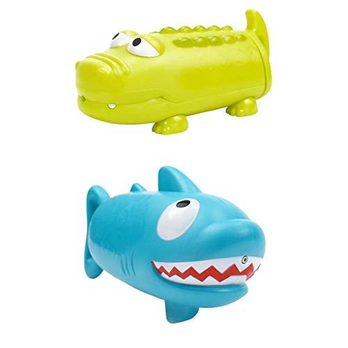 HSKbcim HSKB Strandspielzeug Tiere-Formen Hai Wasserpistole,Sommer Kinderspielzeug Beim Strandurlaub Oder Schwimmenbecken 2Pcs