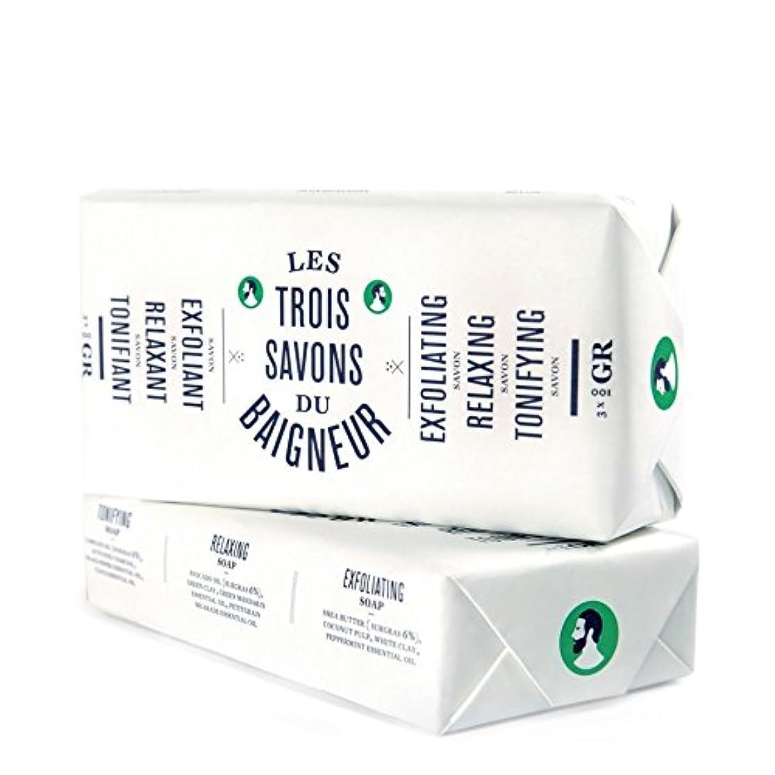 見分ける第四努力するル石鹸セット300グラム x4 - Le Baigneur Soap Set 300g (Pack of 4) [並行輸入品]