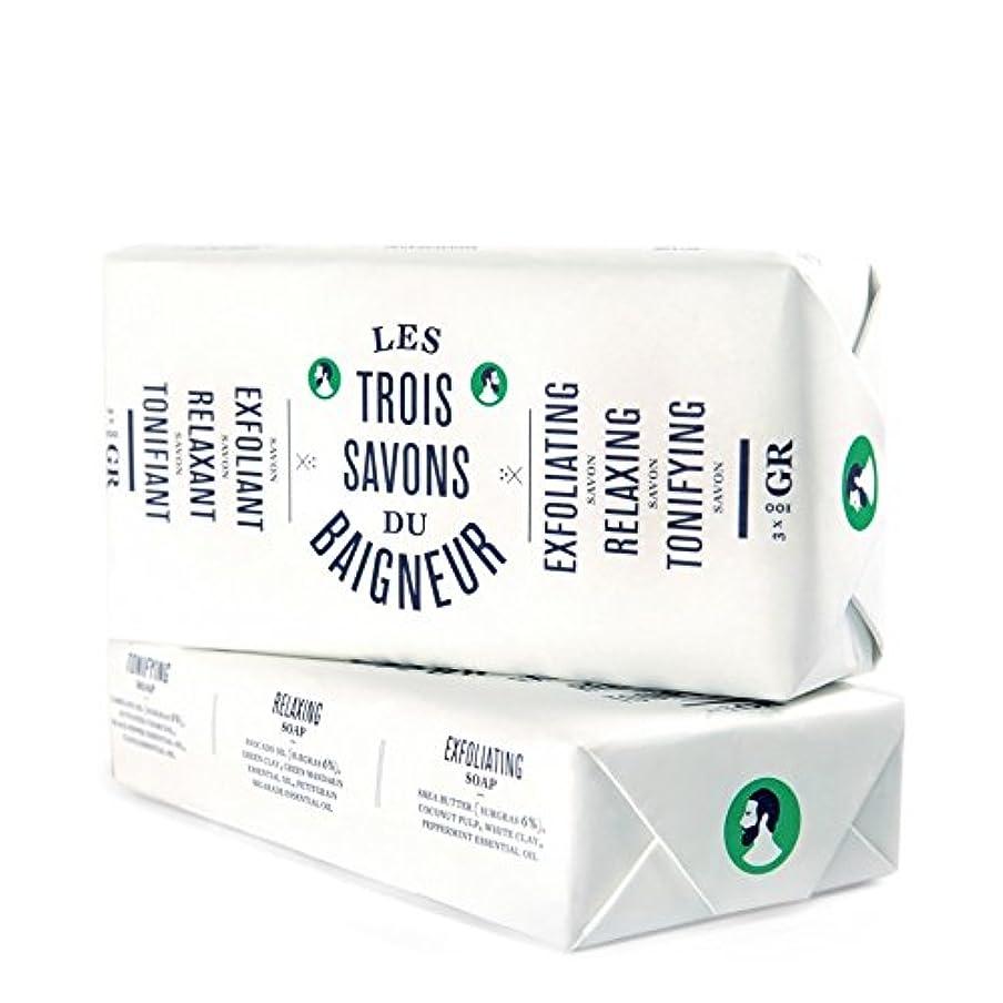 時刻表パンチ嵐Le Baigneur Soap Set 300g - ル石鹸セット300グラム [並行輸入品]