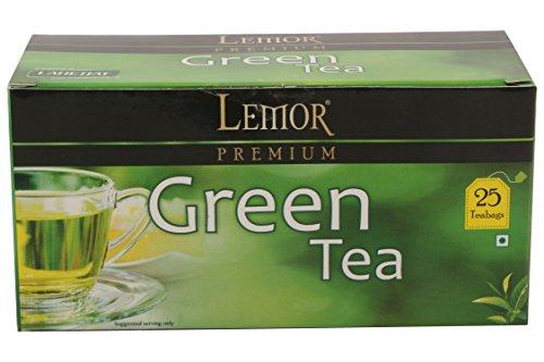 Premium Green Tea Bags by LEMOR (Pure, 25 Tea Bags Box) | Green Tea for Weight Loss | Green Tea for Glowing Skin
