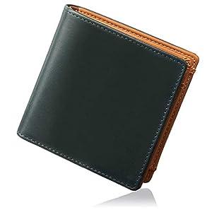 [グレヴィオ] GLEVIO(グレヴィオ) ミニ財布 一流の財布職人が作る 小さい財布 イタリアンレザー 本革 財布 二つ折り財布 メンズ グリーン