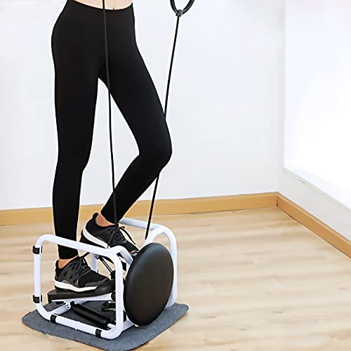 Nisorpa Multi-Functiona Stair Stepper, Mini Stair Stepper Exercise Machine, Portable Twist Stepping Machine with Resistance Bands for Home Office Gym Indoor Aerobic Trainer Foot Stepping Motion