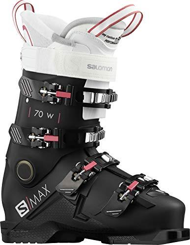 SALOMON Botas Alpinas S/MAX 70, esquí Mujer, Black/WH/Pink, 38/39 EU