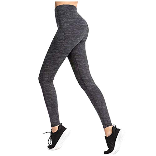 QIMANZI Damen Gym Leggings High Waist Push Up Sport Leggins Fitnesshose Lange Kompressions Sporthose Stretch Workout Training Jogginghose(Schwarz,XS)