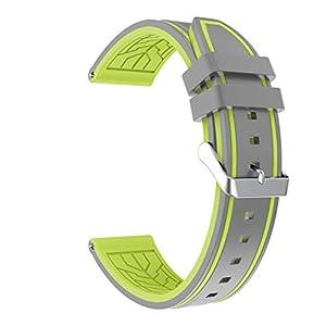 TRUMiRR 24mm de liberación rápida Banda de Reloj de Silicona ...