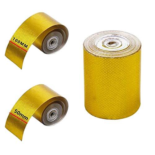 smileyshy Cinta de Aluminio térmico para Tubo de Escape de Coche, autoadhesiva, para Coche, camión, Motocicleta, conductos, conductos, conductos, tubería de cocción, etc. de la Marca