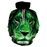 ryyhd 2021 New Men S 3D Lion Head Hoodie Matching New Animal Character Print Hoodie Matching Fashion Sportswear-Picture_Color_XS