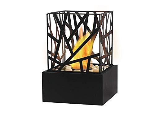 Bio Ethanol Fireplace Indoor Outdoor Camping Glass Top Burner Fire Funky Black Tabletop