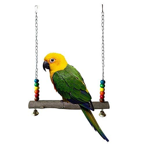Makluce Pet Swing 2020 creatieve multifunctionele speelgoedschommel van hout, geschikt voor papegaaien en staarten