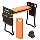 LANNIU Garden Kneeler and Seat Foldable Bench Stool with Kneeling...