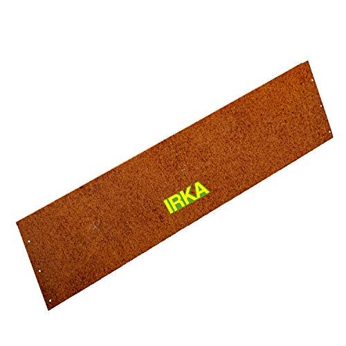 IRKA Rasenkante Cortenstahl Garten 24 cm x 100 cm x 1mm | Cortenstahl stabile Mähkante | Flexible Beeteinfassung Rost Metall | Hangleiste aus Cortenstahl
