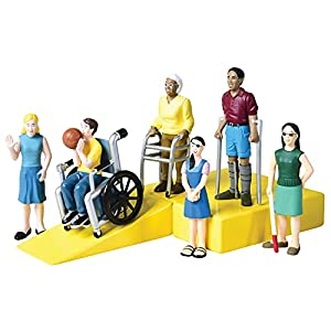 DIVERSE FIGURE SET: Encourage open-mindedness and inclusivity through play with the diverse abilities friends figure set DURABLE: Solid vinyl construction stands up to daily use and will not be damaged if tossed, stomped on, chewed, or pounded EDUCAT...