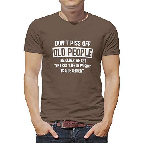 Leicht Verschiedene Typen Kurzarm-T-Shirt für Vater Mutter Onkel Großvater White m