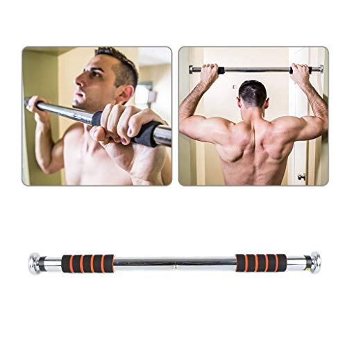 Jszzz Pull Up Bar, Türrahmen Bar for Fitness Bodybuilding Indoor Heimfitnessgeräte Multiple Purpose Einstellbare Tür Reck for Männer und Frauen, 80 bis 120cm (Size : 80 to 120CM)