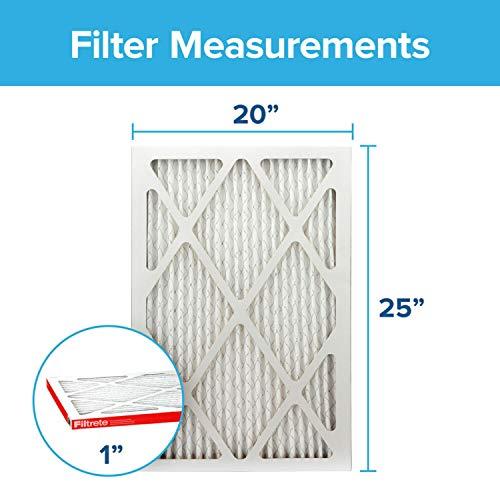 Filtrete 20x25x1, AC Furnace Air Filter, MPR 1000, Micro Allergen Defense, 2-Pack (exact dimensions 19.688 x 24.688 x 0.84)