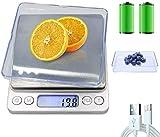 3T6B Báscula Digital para Cocina con Carga USB, Peso de Cocina Electrónica con LCD Retroiluminación Balanza de Alimentos Multifuncional Alta Precisión(3 kg-0.1g/0.01oz), Plata