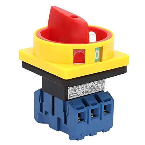 Interruptor selector de encendido y apagado Protección de dedos Estable 25A / 32A Interruptor de circuito de carga de 3 polos y 2 posiciones Interruptor de circuito para máquinas(25A)